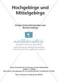Hochgebirge und Mittelgebirge Preview 2