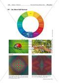Kunst_neu, Sekundarstufe I, Flächiges Gestalten, Malen, Farbkontraste, Warm-Kalt-Kontrast, Farbkreis, warme Farben, kalte Farben, Farbkontraste