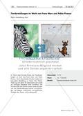 Tierdarstellungen von Franz Marc und Pablo Picasso Preview 1