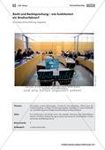 Politik_neu, Sekundarstufe I, Rechte und Pflichten, Politische Ordnung, Prinzipien des Rechtsstaats, Grundlagen in der Bundesrepublik Deutschland, Rechtsprechung, Grundgesetz, Ordentliche Gerichtsbarkeit, Strafgerichtsbarkeit, Bestrafung, Verfahrensgrundsätze, Strafverfahren, Strafgerichtsverhandlung