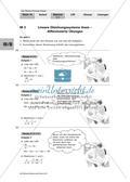 Lineare Gleichungssysteme - differenzierte Übungen Preview 1