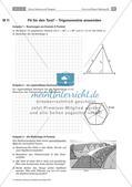 Sinus, Kosinus und Tangens - Anwendungsaufgaben zur Trigonometrie Preview 22