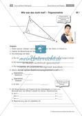 Sinus, Kosinus und Tangens - Anwendungsaufgaben zur Trigonometrie Preview 5