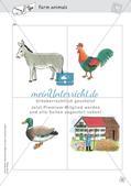 Spielideen: Flashcards zum Thema Wild and Farm animals Preview 14