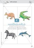 Spielideen: Flashcards zum Thema Wild and Farm animals Preview 18