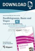 Parallelogramm, Raute und Trapez Preview 1