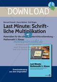 Last Minute: Schriftliche Multiplikation Preview 1