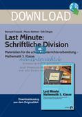 Last Minute: Schriftliche Division Preview 1