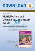 Multiplikation und Division im Zahlenraum bis 20 Preview 1