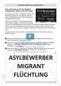 Flüchtling, Migrant, Asylbewerber: Begriffsklärung Preview 5