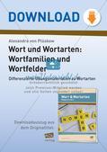 Wort und Wortarten: Wortfamilien und Wortfelder Preview 1