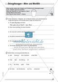 Wort und Wortarten: Satzergänzungen Preview 4