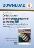 Codeknacker: Grundrechenarten und Sachaufgaben Preview 1