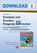 Stempeln und Drucken: Fliegende Schirmchen Preview 1