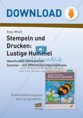 Stempeln und Drucken: Lustige Hummel Preview 1