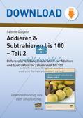 Addition und Subtraktion im Zahlenraum bis 100: Teil 2 Preview 1