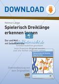 Musiktheorie-Spiele: Dreiklänge Preview 1