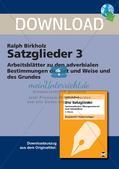 Satzglieder: Adverbiale Bestimmungen Preview 1