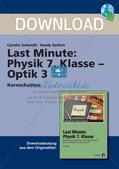 Last Minute: Physik 7. Klasse - Optik 3 Preview 1