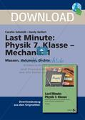 Last Minute - Mechanik: Massen, Volumen, Dichte Preview 1