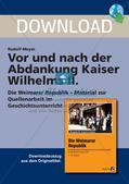 Vor und nach der Abdankung Kaiser Wilhelms II. Preview 1