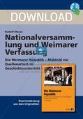 Nationalversammlung und Weimarer Verfassung Preview 1