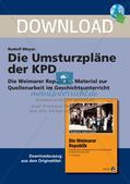 Die Weimarer Republik: Die Umsturzpläne der KPD Preview 1