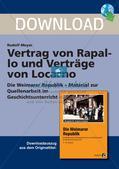 Vertrag von Rapallo und Verträge von Locarno Preview 1