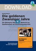 Die Weimarer Republik: Die goldenen Zwanziger Jahre Preview 1