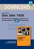 Die Weimarer Republik: Das Jahr 1926 Preview 1