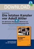 Die letzten Kanzler vor Adolf Hitler Preview 1