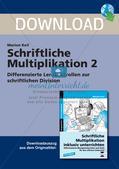 Schriftliche Multiplikation: Differenzierte Lernkontrollen Preview 1