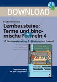 Terme und binomische Formeln Preview 1
