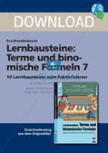 Lernbausteine: Terme und binomische Formeln 7 Preview 1