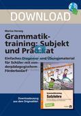 Grammatiktraining: Subjekt und Prädikat Preview 1