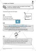 Grammatiktraining: Subjekt und Prädikat Preview 4