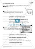 Grammatiktraining: Subjekt und Prädikat Preview 9