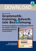 Grammatiktraining: Adverbiale Bestimmung Preview 1
