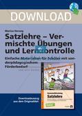 Satzlehre: Vermischte Übungen und Lernkontrolle Preview 1