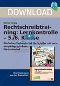 Rechtschreibtraining: Lernkontrolle Preview 1