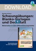 Schwungübungen: Blanko-Vorlagen und Deckblatt Preview 1