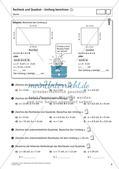 Flächeninhalt und Umfang: Rechteck und Quadrat Preview 10