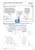 Flächeninhalt und Umfang: Rechteck und Quadrat Preview 11