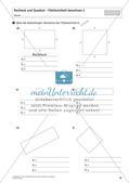 Flächeninhalt und Umfang: Rechteck und Quadrat Preview 12