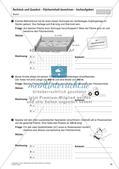 Flächeninhalt und Umfang: Rechteck und Quadrat Preview 15
