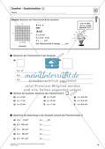Flächeninhalt und Umfang: Rechteck und Quadrat Preview 16
