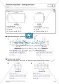 Flächeninhalt und Umfang: Rechteck und Quadrat Preview 23