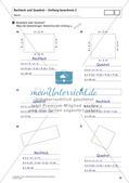 Flächeninhalt und Umfang: Rechteck und Quadrat Preview 24