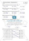Flächeninhalt und Umfang: Rechteck und Quadrat Preview 25