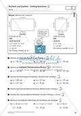 Flächeninhalt und Umfang: Rechteck und Quadrat Preview 27